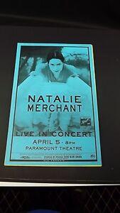 Genuine-1999-NATALIE-MERCHANT-Live-In-Concert-Paramount-Theatre-Poster-Flyer-Ad