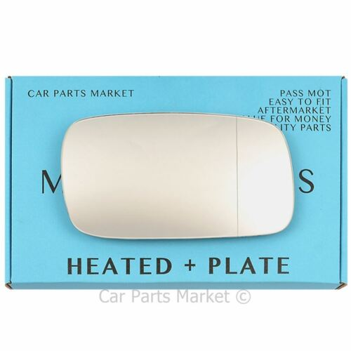 Right side Wide Angle Wing door mirror glass for Saab 9-3 1998-02 heated plate