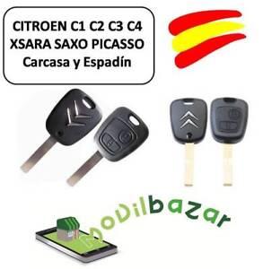 LLAVE-CARCASA-CITROEN-C1-C2-C3-C4-XSARA-SAXO-PICASSO-MANDO-DOS-BOTONES-ESPANA