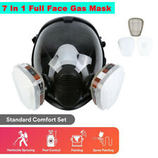 7 In 1 Full Face Gas Mask Facepiece Respirator Spraying Painting Safety Reusable