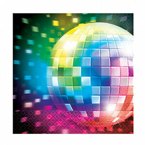 16 X 1970s Fiesta Servilletas Disco Fiesta 70s fiesta provisiones Vajillas Servilletas