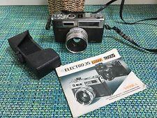 "Yashica Electro 35 GSN 35mm Film Rangefinder ""Spiderman"" Camera CASE &  BOOKLET"