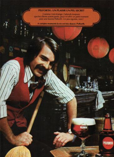 Publicité Advertising 1977  Bière PELFORTH
