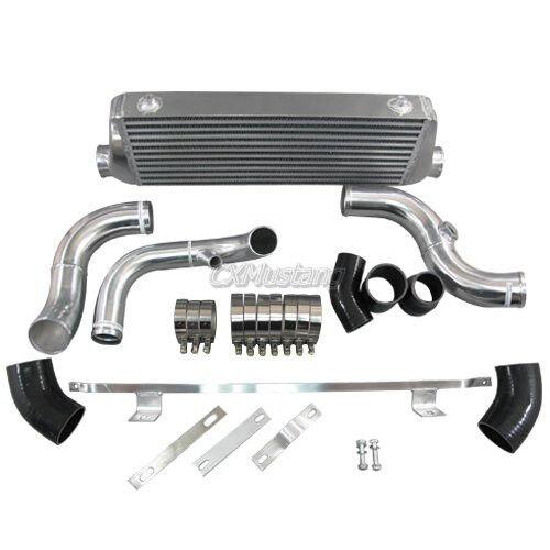 CXRacing Front Mount Intercooler Kit For 94-01 Audi A4 B5 1.8T Black Hoses