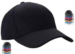 Plain-cappellini-da-Uomo-Da-Baseball-Caps-Tappi-di-picco-Unisex-Estate-Cappelli-Tappo-Sport