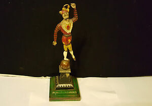 Victorian-Brass-Cold-Painted-Jester-Figure-32-cm-tall
