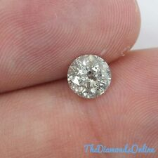0.91 Carat Round Loose Diamond - F Color I2 For Engagement Ring Natural Diamond
