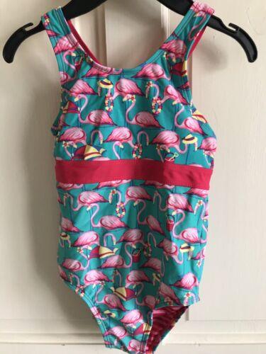 NUOVO senza etichetta Fat Face Costume da bagno Flamingo/'S VERDE-ROSA Bambina età 4-5 ANNI