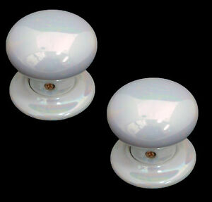China/Porcelain Mortice Door Knobs Mother Of Pearl 60mm (pair)