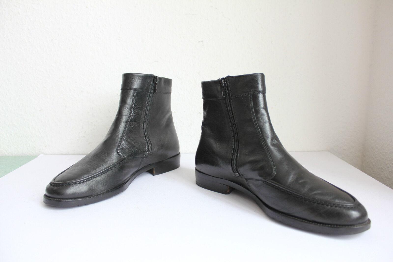 Vintage Amazing Elegante City Classic Boots Echtleder Schwarz Eu:44-44,5---TOP--