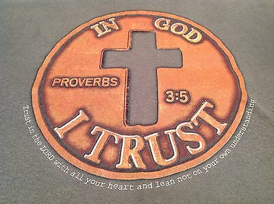 In God I Trust Penny T Shirt Proverbs 3:5 Christian