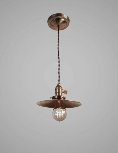 Industrial Lighting Vintage Brass Pendant Lamp Steampunk Hanging Light Swag