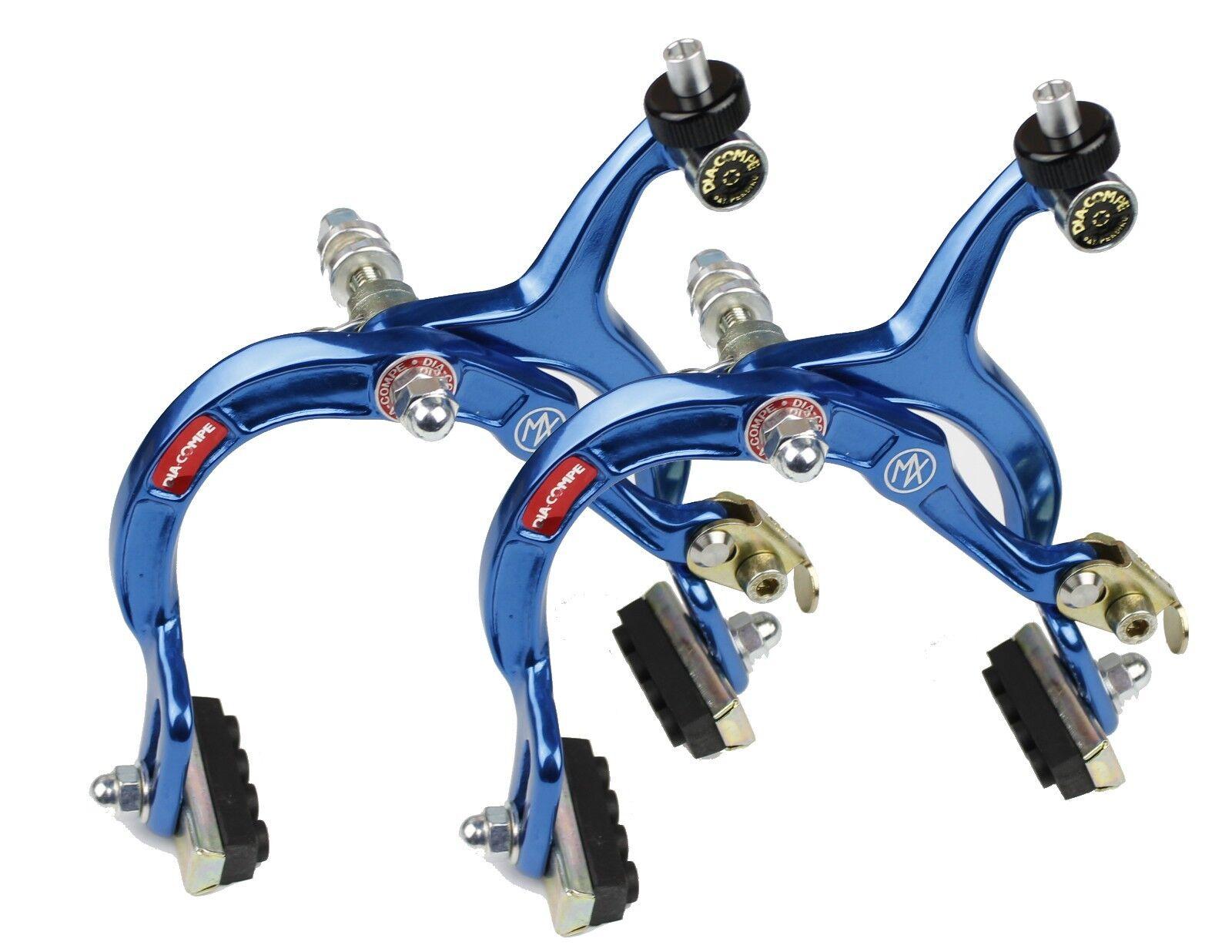 Genuine Dia-Compe MX1000 Dark bluee Brake Calipers Pairs - Old School Retro BMX