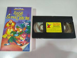 BASIL-EL-RATON-SUPER-DETECTIVE-Walt-Disney-VHS-Cinta-Tape-Espanol