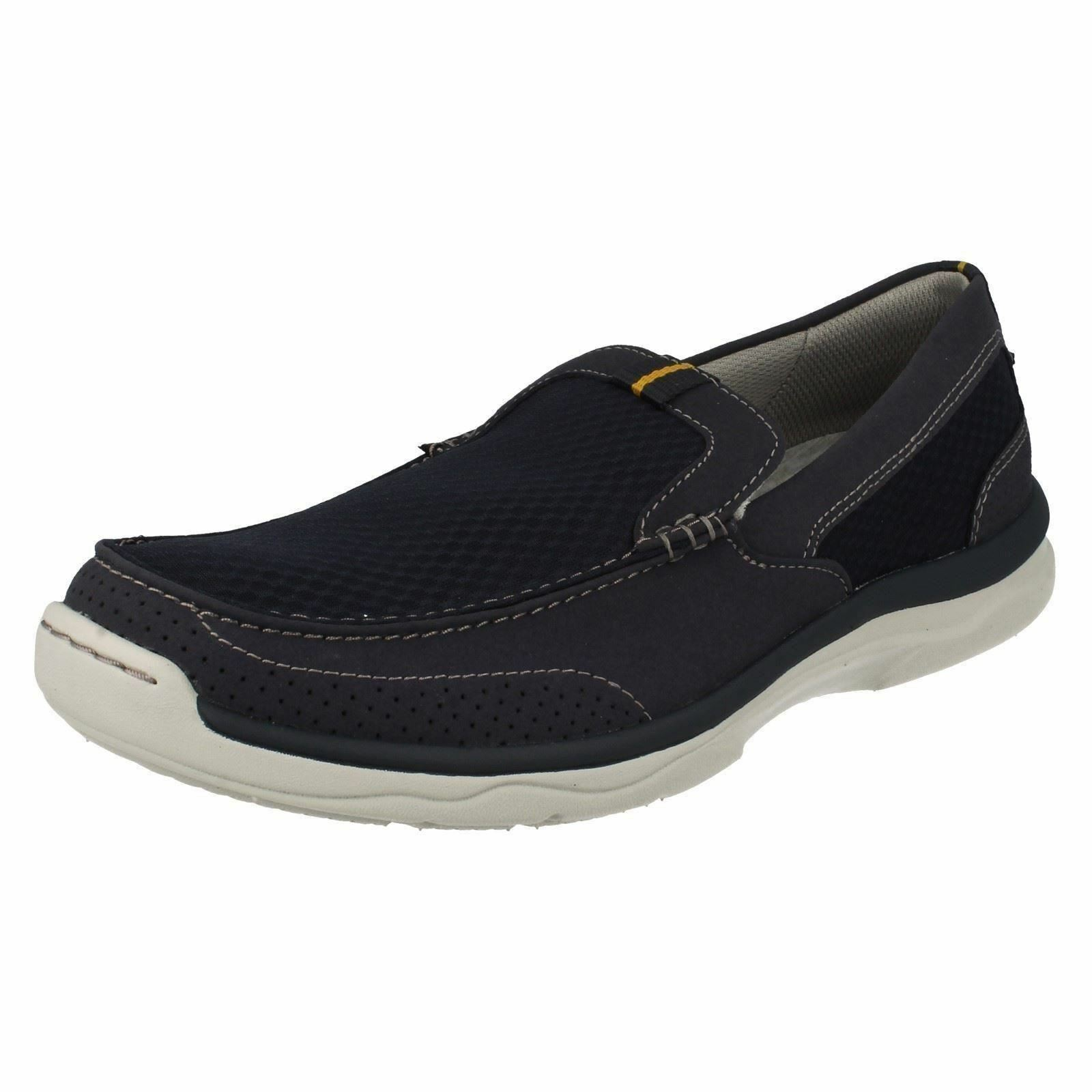 Clarks CLOUD STEPPERS 'Marcus Step' Mens Navy Slip On Cushioned Casual shoes