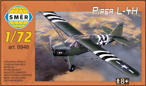 Piper L-4 H Cub in USAAF D-Day, Army (1/72 model kit, Smer 0948)