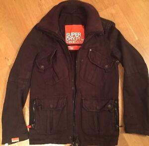SUPERDRY-Tamarin-jacket-coat-Size-S-dark-brown-colour