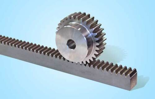 Zahnstange Modul 2  Maße 20 x 20 x 502 induktiv gehärtet Oberfläche brüniert
