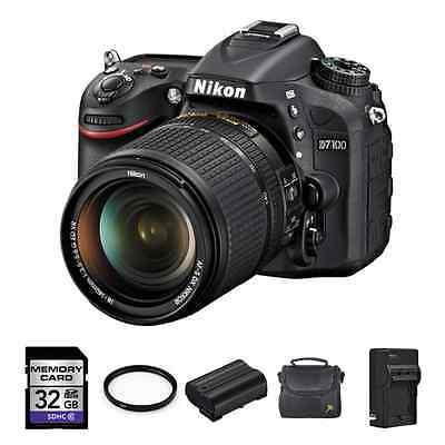 Nikon D7100 DSLR Camera w/18-140mm VR DX Lens + 2 Batteries, 32GB & More