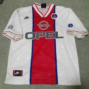 Maillot PSG Paris Saint-Germain jersey nike shirt vintage Opel 1995 1996 L