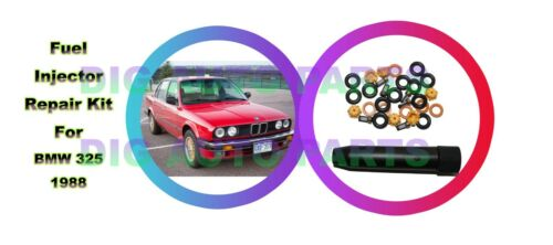 6 Set for BMW E30 E34 Fuel Injector Repair Seal Kit 0280150716