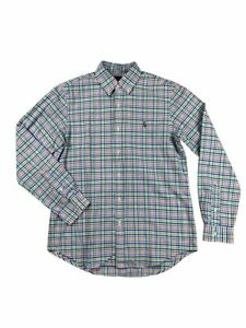 Ralph-Lauren-Polo-Mens-Oxford-Plaid-Colorful-Pony-Logo-Button-Down-Shirt-New