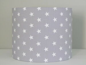 Image Is Loading New Light Minky Grey Star 25cm 30cm Lampshade