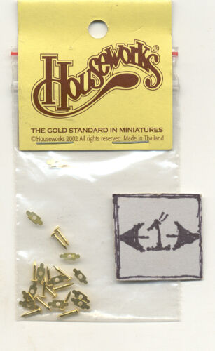 Drawer Pulls Chippendale  43104 miniature dollhouse hardware  1//12 scale metal