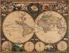 Vintage Frederik de Wit Old Color Antique World Colour Sheet Map Print 42x33 cm