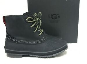 04b68f474bb Details about NEW NIB MENS 9 BLACK UGG ZETIK 1017304 LEATHER WATERPROOF  WINTER SNOW DUCK BOOTS