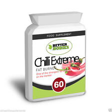 60 Chilli Extreme Fat Burner Pills NEW 2017 Weight Loss Slimming Diet Capsules