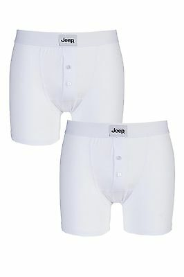 Jeep Mens Stripe Cotton Stretch Jersey Fitted Keyhole Fly Trunks Two Pack