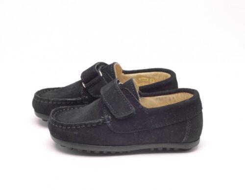 25 Ragazzi Papouelli Mocassini School Suede Navy London bambini Taglia Shoes Mocassini xgAZq6p
