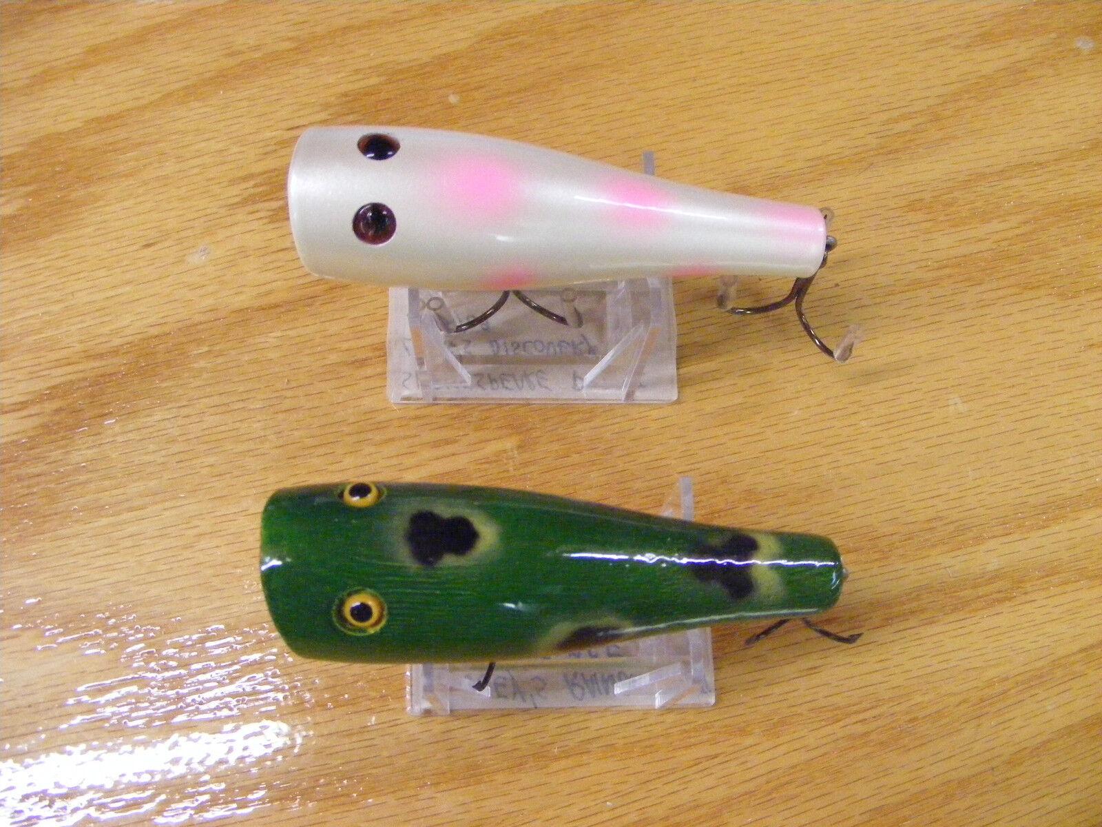 2 Beautiful Vintage Original Glasseye Plunkers in Pearl and Frog colors