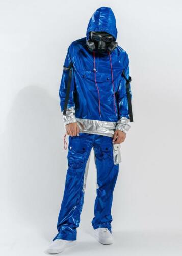 Blank State Men/'s Radiation Anorak in Metallic Blue