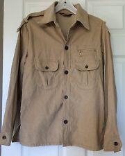 Vtg Levis For Men Beige Corduroy Shirt Jacket White Tab Medium Coat Ribbed 1970s
