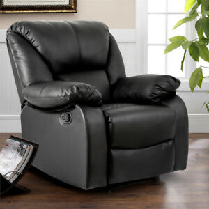 black leather recliner chair armchair sofa chair lounge luxury