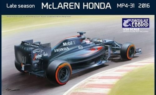 EBBRO 1 20 KIT IN PLASTICA MCLAREN HONDA MP4-31 2016 LATE SEASON  ART 020 4800