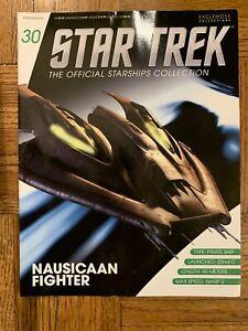 Star Trek Eaglemoss Issue 30 Nausicaan Fighter model with Magazine