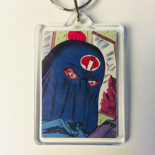 Hooded Cobra Commander Comic Art GI JOE ACTION FORCE Porte-clés chaîne porte-clés Fob