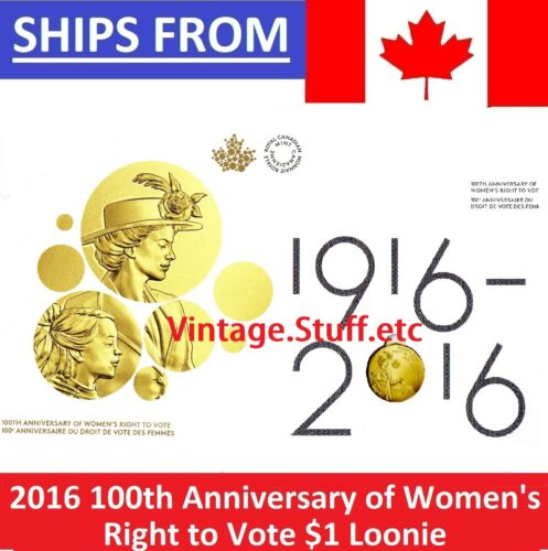 * 2016 Canada Women/'s Right to Vote Collector Card Folder * WITH COIN