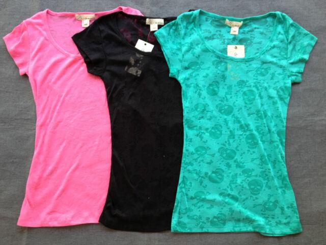 Jr. Burnout Skull Crossbones Shirt Sht Sleeve Pink Black Seafm Grn Skullalicious