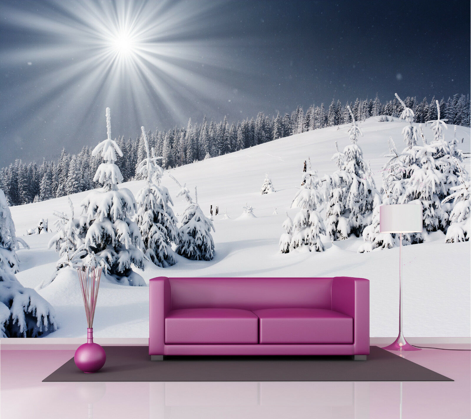 Adesivo Parete Gigante Montagna Winter 260x360cm P128
