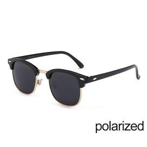 6c6407d16b31 Image is loading Semi-Rimless-Polarized-Sunglasses-Men-Women-Half-Frame-