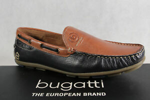 Bugatti Slipper Halbschuh Sneaker blau/ braun Echtleder NEU