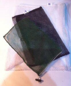 Filet-nylon-VERT-23x14-cm-mailles-fines-AQUARIUM-FILTRATION-POCHETTE-A-CHARBON