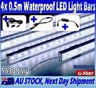 4X12V Waterproof Cool White 5630 Led Strip Lights Bars Car Camping Boat Cig