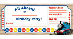 Image Is Loading Thomas The Train Kids Boys Birthday Party Invitations