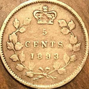 1893-CANADA-SILVER-5-CENTS-COIN