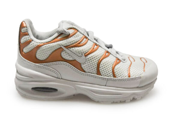 huge discount 059aa 3bc9a enfants Nike tuned 1 Air Max Plus Tn (PS) - 848216 001 - Or blanc baskets